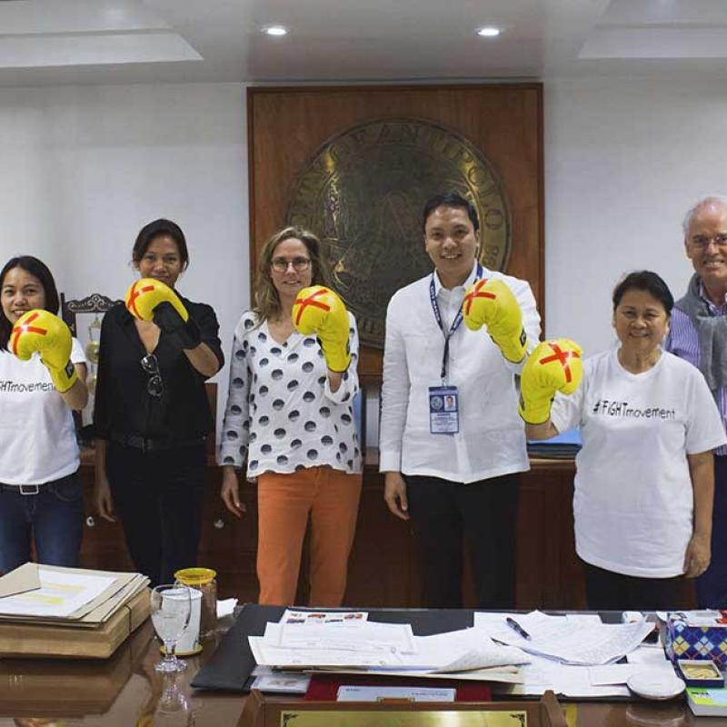 Vf Katie Ford With Antipolo Mayor